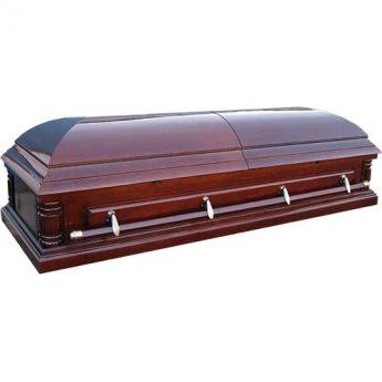 Гроб двухкрышечный глянцевый лакированный «Русич»