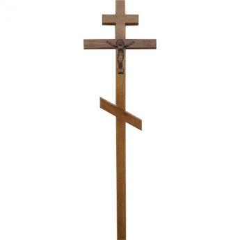 Крест на могилу деревянный «Массив» дуб