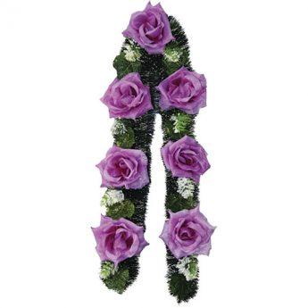 Ритуальный венок-гирлянда из цветов «Заказная» 01