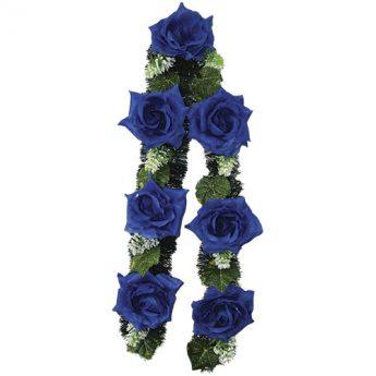 Ритуальный венок-гирлянда из цветов «Заказная» 02
