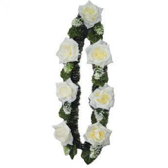 Ритуальный венок-гирлянда из цветов «Заказная» 03