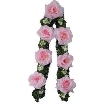 Ритуальный венок-гирлянда из цветов «Заказная» 04