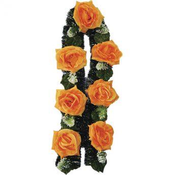 Ритуальный венок-гирлянда из цветов «Заказная» 05