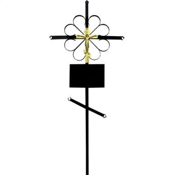 Крест на могилу металлический «Стандарт»