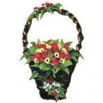 Корзинка с цветами ритуальная «Ладья» заказная  02