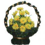 Корзинка с цветами ритуальная «Ладья» 05