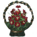 Корзинка с цветами ритуальная «Ладья» 01
