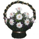 Корзинка с цветами ритуальная «Ладья» 02