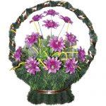 Корзинка с цветами ритуальная «Ладья» 03