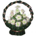 Корзинка с цветами ритуальная «Ладья» 04