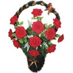 Корзинка с цветами ритуальная «Бархат»