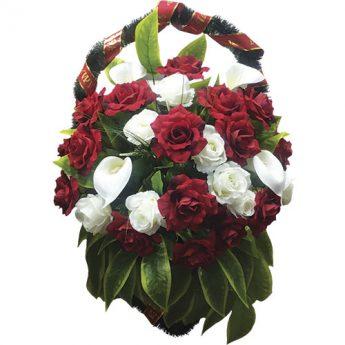 Корзинка с цветами ритуальная «Венеция»