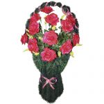 Корзинка с цветами ритуальная «Ваза» 02