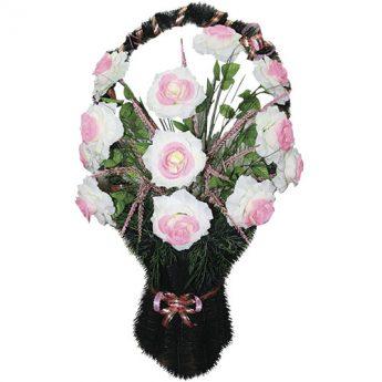 Корзинка с цветами ритуальная «Ваза» 03