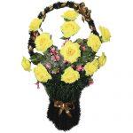 Корзинка с цветами ритуальная «Ваза» 04