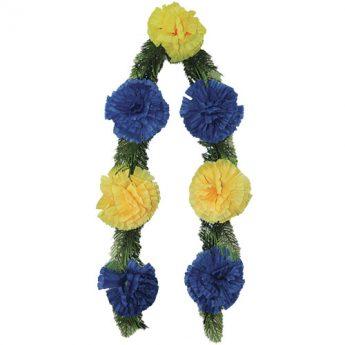 Ритуальный венок-гирлянда из цветов «Простая» 01