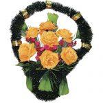 Корзинка с цветами ритуальная «Стульчик» 01