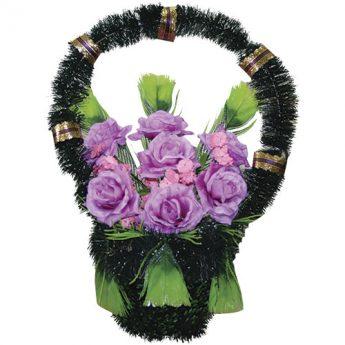 Корзинка с цветами ритуальная «Стульчик» 02