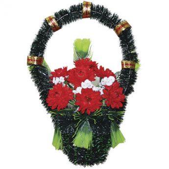 Корзинка с цветами ритуальная «Стульчик» 03