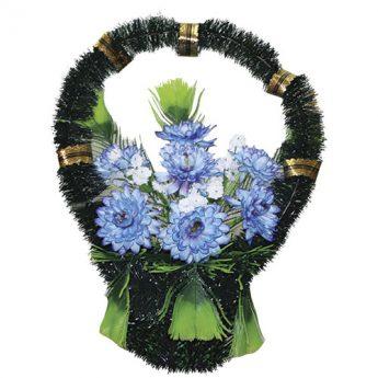 Корзинка с цветами ритуальная «Стульчик» 04