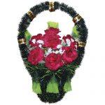 Корзинка с цветами ритуальная «Стульчик» 05