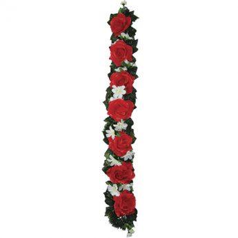 Ритуальный венок-гирлянда из цветов «Эксклюзивная» 02