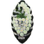 Венок ритуальный искусственные цветы 110см 07