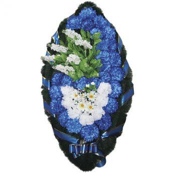Венок ритуальный искусственные цветы 110см 08