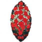 Венок ритуальный искусственные цветы 110см 01