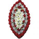 Венок ритуальный искусственные цветы 125см 01