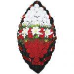 Венок ритуальный искусственные цветы 125см 03