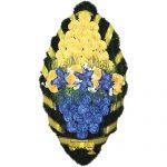Венок ритуальный искусственные цветы 125см 04
