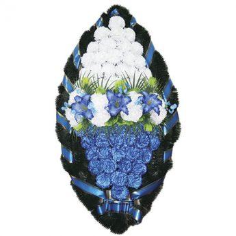 Венок ритуальный искусственные цветы 125см 05