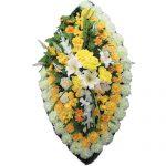 Венок ритуальный искусственные цветы 125см 07