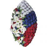 Венок ритуальный искусственные цветы 125см 12
