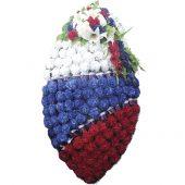 Венок ритуальный искусственные цветы 140см 07