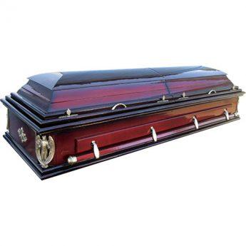 Гроб двухкрышечный глянцевый лакированный «Акропль»