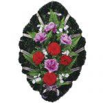 Венок ритуальный искусственные цветы 70см 03