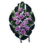 Венок ритуальный искусственные цветы 70см 07