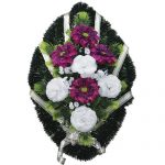 Венок ритуальный искусственные цветы 70см 13