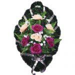 Венок ритуальный искусственные цветы 70см 10