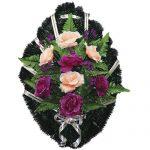 Венок ритуальный искусственные цветы 70см 12
