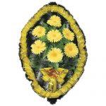 Венок ритуальный искусственные цветы 70см 15