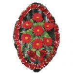Венок ритуальный искусственные цветы 70см 16