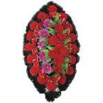 Венок ритуальный искусственные цветы 90см 06