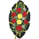 Венок ритуальный искусственные цветы 90см 08