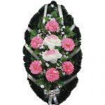 Венок ритуальный искусственные цветы 90см 10
