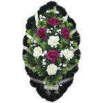 Венок ритуальный искусственные цветы 90см 12