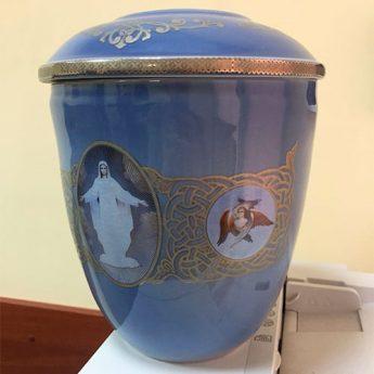 Урна для праха из керамики УФ 1701-ЗГ